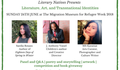 Literary Natives event flyer