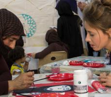 Hannah with Yazidi woman